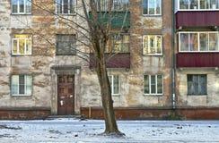 Fassade des alten Gebäudes Stockfotos