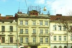 Fassade des alten Hauses Lizenzfreie Stockbilder
