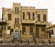 Fassade des alten Hauses Israel Lizenzfreies Stockfoto