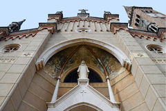 Fassade des churc von St. Lucy, Italien Stockfotos