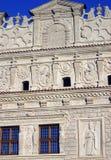 Fassade des dekorativen Steins Stockfotografie