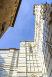 Fassade des Duomo, Siena, Toskana, Italien Lizenzfreies Stockbild