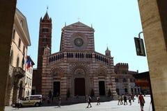 Fassade des Duomo von Grosseto Toskana Italien stockfotos
