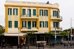 Fassade des erneuerten alten Hauses Israel Lizenzfreies Stockbild