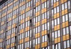 Fassade des Gebäudes des teuren Hotels Hintergrund oder Beschaffenheit Lizenzfreie Stockfotos