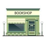 Fassade des Gebäudes mit Buchhandlung Lizenzfreies Stockbild
