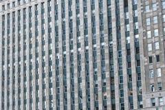 Fassade des Gebäudes mit Fenstern lizenzfreies stockfoto