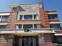 Fassade des Haupteingangs von ¡ n vthe Grundschule Miguels Alemà in Toluca, Mexiko stockfotos