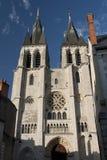 Fassade des Heiligen Nicolas, in den blois Stockbild