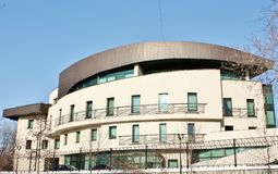 Fassade des Hightech- Artgebäudes Lizenzfreie Stockfotografie