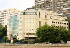 Fassade des Hightech- Artgebäudes Stockbild