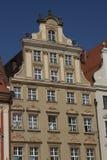 Fassade des historischen Gebäudes im Stadtzentrum von Breslau, Polen Lizenzfreie Stockfotos