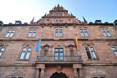 Fassade des Johannisburg Schlosses Stockbild