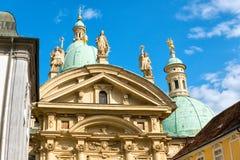 Fassade des Mausoleums von Franz Ferdinand II in Graz, Steiermark, Österreich stockbilder