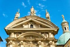 Fassade des Mausoleums von Franz Ferdinand II in Graz, Steiermark, Österreich stockfotos