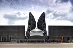 Fassade des modernen Amphitheaters in Weißrussland stockfoto