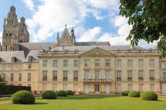 Fassade des Museums von schönen Künsten touren frankreich lizenzfreie stockfotos