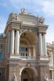 Fassade des Operentheaters von Odessa Lizenzfreie Stockbilder