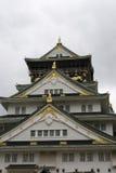 Fassade des Osaka-Schlosses Stockbild
