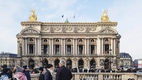 Fassade des Palais Garnier Academie Nationale de Musique Stockfotos