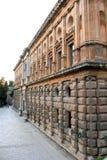 Fassade des Palastes von Charles V in Granada Stockfotografie