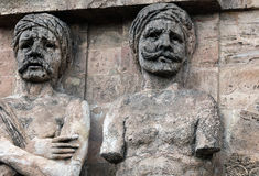 Fassade des Porta Nuova in Palermo, Sizilien Stockbild