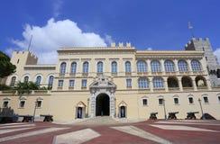 Fassade des Prinz ` s Palastes von Monaco, Wohnsitz von Prinzen von Monaco lizenzfreie stockfotos