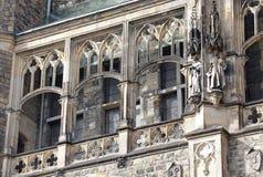 Fassade des Rathauses in Aachen, Deutschland Stockbilder
