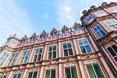 Fassade des Teufelhauses in Arnhem, die Niederlande Stockfoto