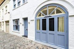 Fassade des typischen Hauses in London, Großbritannien Lizenzfreies Stockfoto