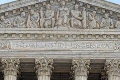 Fassade des Washington DC-Obersten Gerichts Stockfoto