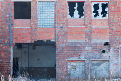 Fassade des zerstörten Gebäudes Stockfoto