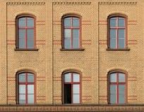 Fassade des Ziegelsteines Lizenzfreies Stockbild