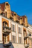 Fassade einer Art Noveau-Wohnung Stockfotografie