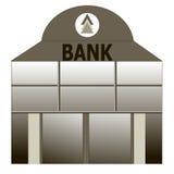 Fassade eines Bankgebäudes Flache Art Stockfoto