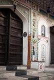 Fassade eines Gebäudes, Pushkar, Ajmer, Rajasthan, Indien Stockbilder