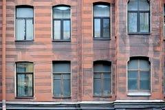Fassade eines historischen Gebäudes in St Petersburg Stockbild