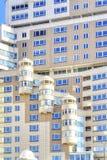 Fassade eines modernen Hauses Die Stadt von Minsk Stockfoto
