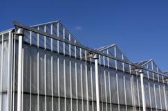 Fassade eines niederländischen grünen Hauses Lizenzfreie Stockbilder