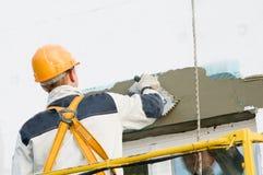 Fassade End- und Surfacerarbeiten Lizenzfreie Stockbilder