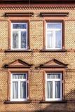 Fassade mit Klinkerziegelsteinen Lizenzfreies Stockbild