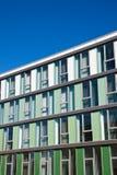 Fassade mit verschiedenen Arten des Grüns Lizenzfreie Stockfotos