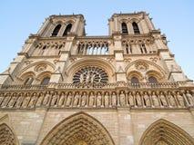 Fassade Notre Dame Church lizenzfreie stockfotos