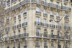 Fassade in Paris Stockfotos