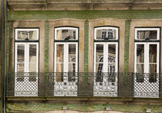 Fassade Porto Portugal stockfoto
