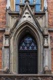 Fassade protestierender lutherischer Kirche St. Gertrud in Riga, Lettland Stockfotografie