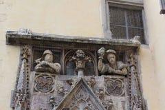 Fassade in Regensburg Stockfotos