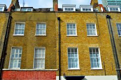 Fassade of a typical england house. Fassade of typical england house in the city of london Royalty Free Stock Image