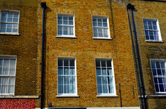 Fassade of a typical england house. Fassade of typical england house in the city of london Stock Image