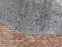 Fassade und Backsteinmauer Stockbild
